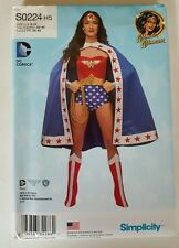Simplicity S0224 Wonder Woman Costume Pattern Costume Cape Crown Boot Cover
