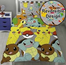 POKEMON CATCH ROTARY ENSEMBE HOUSSE DE COUETTE NEUF - DESIGN RÉVERSIBLE