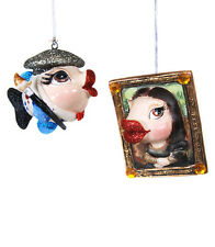 Artist & Muse Kissing Fish Christmas Ornaments Katherine's Collection 28-530813