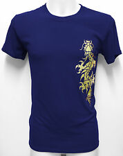 Chinese Dragon Gold Foil Design T-shirt MMA Tribal Yakuza Tattoo Kick Boxing Gym