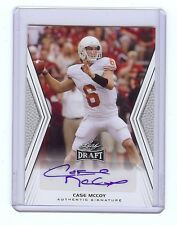 CASE McCOY - Texas Longhorns Football 2014 Leaf DRAFT Certified Autograph RC