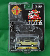 Racing Champions Mint Motor Trend 50th '57 Plymouth Fury #222 Chartreuse Yellow