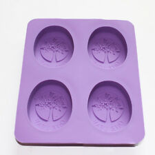 Tree of Life One Leaf Soap Oval Silicone Mold Cold Process Making Supplies