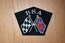 CLASSIC BSA MOTORCYCLE X-FLAGS EMBROIDERED PATCH/GOLD STAR