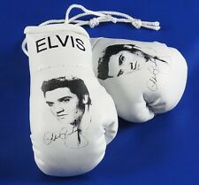 Elvis Mini Boxing Gloves. with Autograph