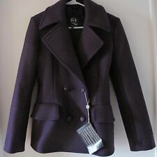 NWT Alexander McQUEEN Purple Double Breasted Wool Jacket Size IT38/2 -- $2530