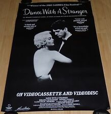 DANCE WITH A STRANGER 1980s ORIGINAL VHS ROLLED HOME VIDEO MOVIE POSTER