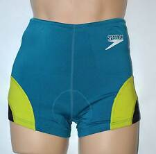 UK Ladies XL (16) SPEEDO Thermodry Triathlon Speed ShortsTeal Green 2020