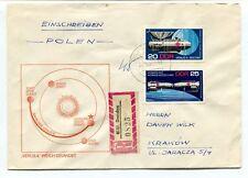 1969 Einschreiben Polen Venus 4 Weich Gelandet Krakow Dresden DDR REGISTERED