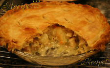"☆Chicken Pot Pie W/Flakey Homemade Crust ""RECIPE""!☆Flakey Perfection!!!☆"
