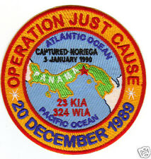 OPERATION JUST CAUSE PATCH, PANAMA, DECEMBER 1989, 22 KIA, 324 WIA,            Y