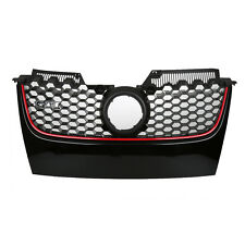 FOR 06-09 VW GTI GLI JETTA MK5 FRONT MAIN HEX MESH BUMPER CENTER GRILLE RED TIP