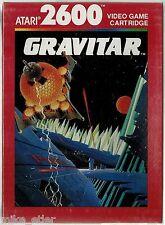 Gravitar  (Atari 2600, 1988) Factory Sealed