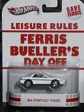 2013 HOTWHEELS - Retro entertainment C - FERRIS BUELLER 80S Pontiac Fiero