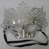 Masquerade eye masks Silver with sparkling Glitter venetian carnival party
