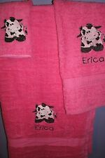Cow Personalized cow  3 Piece Bath Towel Set  Your Color Choice