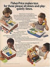 Vintage Fisher Price Sit Down And Play Toy Ad 1979