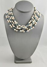 "18"" FRESHWATER BAROQUE PEARL MULTI COLOR NECKLACE - BLUE PEACH WHITE 5 AVAILABLE"