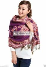 New Double-Side Pashmina Silk Shawls Scarves Women's Scarf Floral Shawl Wrap