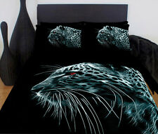 Black Leopard Queen Bed Quilt Cover Set - Great Gift Idea For Big Cat Loves!