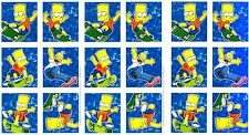 THE SIMPSONS Scrapbook Stickers 3 Sheets Hallmark Bart Homer Skateboard