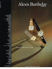PUBLICITE ADVERTISING  1981   ALEXIS BARTHELAY   montre  ultra-plates