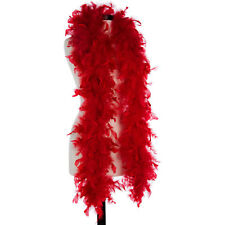 Red 40 Gram Chandelle Feather Boas - 6 Feet Long - Halloween Costumes - Trim