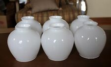 6 Vintage White GLASS SHADES for HANGING Ceiling FIXTURE Light Sconce Victorian