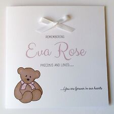 Personalised Baby Remembrance Card Sympathy Loss Of Baby, Child