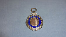 Sterling silver/enamel pocket watch fob/médaille north kensington challenge cup 33