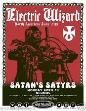 "ELECTRIC WIZARD ""N. AMERICAN TOUR 2015"" SEATTLE CONCERT POSTER -Doom Metal Music"