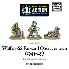 WARLORD GAMES Bolt ACTION NUOVO CON SCATOLA Waffen-SS in avanti OSSERVATORE Team wgb-lss-02