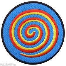 Spiral Cannabis Candy Trance Aum Om Ohm Magic Badge Hippie Iron on Patch #0688