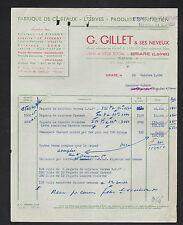 """BRIARE (45) USINE de CRISTAUX , LESSIVES & PRODUITS D'ENTRETIEN """"G. GILLET"""" 1950"""