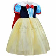 Kids Girls Snow White Fancy Dress Costume Headband Birthday School Party Outfits