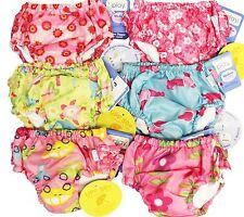 4pk I Play Girl's Bathing Suit Ultimate Swim Diapers 12M Months 18-22 lbs NE4