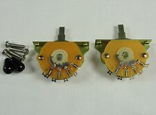 2 New Mighty Mite USA 5 Way switches for Fender Stratocaster Strat  w/ Black Tip