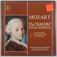 "MOZART: The ""Haydn"" String Quartets HUNGARIAN QUARTET Vox Box SEALED LP"