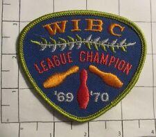WIBC League Champion '69 -'70 Patch - vintage