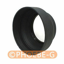 77mm 3-in-1 3-Stage Collapsible Rubber Lens Hood