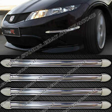 4 x Car Van Chrome Look Front Rear Bumper Edge Protector Fender Guards Strips
