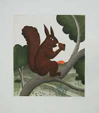 "Thomas McKnight ""Squirrel"" Hand Signed Limited Ed. Etching"