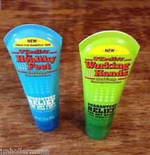 O'Keeffe's Working Hand & Healthy Feet Can Jar Tube Creme Lotion Cracked Feet