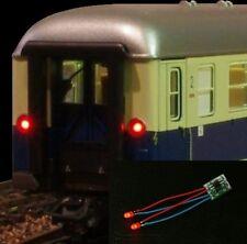 S083 - 5 Stück LED Zugschlußbeleuchtung Schlußbeleuchtung Waggons 3mm LEDs rot