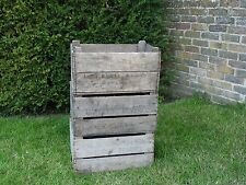 Vintage English Wooden Apple/Pear Crates Old Bushel Boxes Very Rare storage box