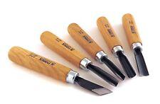 Narex 5 Piece Set Starter Carving Chisels 3 Gouges V Tool and Double Bevel Sk...