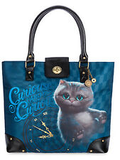 Disney Store Alice in Wonderland Cheshire Cat Shoulder Bag/Tote Charm Purse NWT