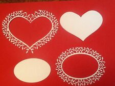 2 x Frame designs. Woodland Oval and Heart Frame 5 off each design and shapes