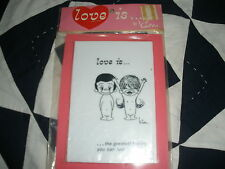 HTF Very Early 1970 Love Is...by Kim Layered Plastic Plaque-The Greatest Feel-Pi