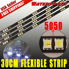 "4x 12"" 30CM Car Motorcycle LED Strip Light Bar High Power 5050SMD Waterproof 12V"